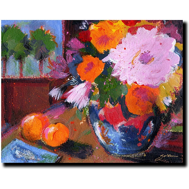 Sheila Golden 'Two Oranges' Canvas Art - Thumbnail 0