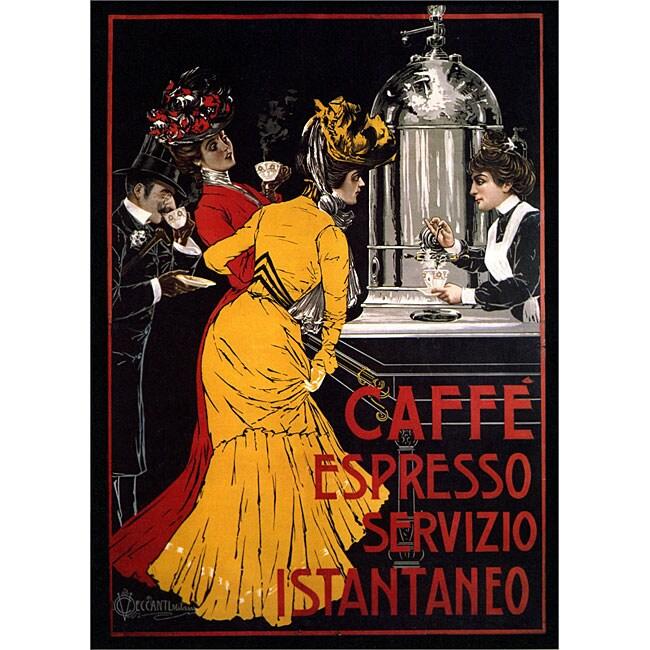 V. Ceccanti 'Cafe Espresso' Gallery-wrapped Art