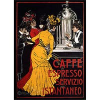 V. Ceccanti 'Cafe Espresso' Gallery-wrapped Art