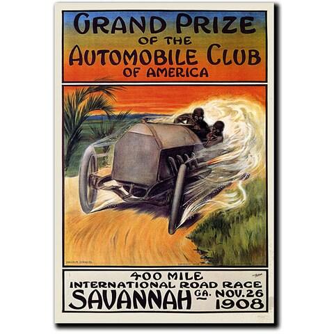 Malcolm A. Strauss 'Automobile Club of America' Art
