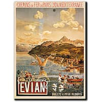 Tanconville 'Evian' Gallery-wrapped Canvas Art