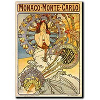 Alphonse Mucha 'Monaco-Monte Carlo' Canvas Art