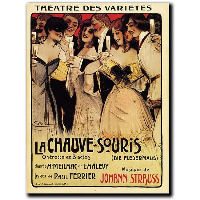 Georges Dola 'La Chauve-Souris' Canvas Art