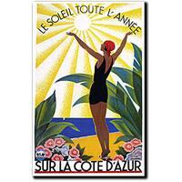 Roger Broders 'Sur La Cote D'Azur' Canvas Art