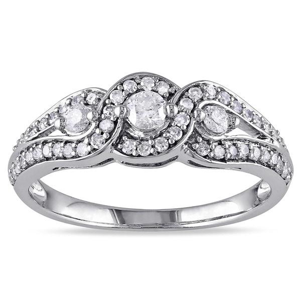 Miadora 14k White Gold 1/2ct TDW Diamond Ring (I-J, I2-I3)