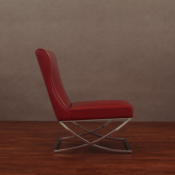 Amazing Milano Burnt Red Leather Chair Lounger   Free Shipping Today    Overstock.com   11990500