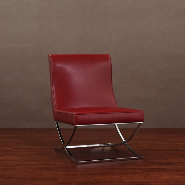 Milano Burnt Red Leather Chair Lounger