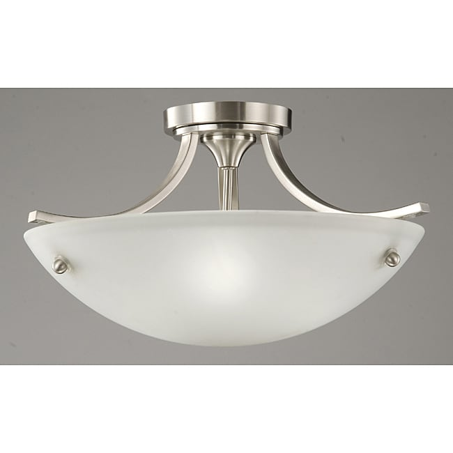 Satin Nickel 3-light Ceiling Lamp - Thumbnail 0