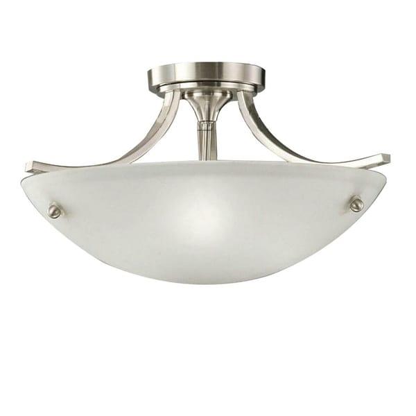 Satin Nickel 3-light Ceiling Lamp