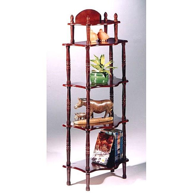 Cherry Finish Bookshelf Display Cabinet