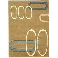 Safavieh Handmade Soho Ellipses Modern Abstract Beige Wool Rug - 2' x 3'