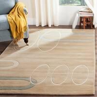 Safavieh Handmade Soho Ellipses Modern Abstract Beige Wool Runner Rug - 2'6 x 10'