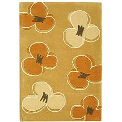 Safavieh Handmade Soho Daisy Gold New Zealand Wool Rug (2' x 3')