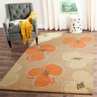 Safavieh Handmade Soho Daisy Gold New Zealand Wool Rug (3'6 x 5'6)
