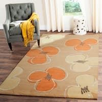 Safavieh Handmade Soho Daisy Gold New Zealand Wool Rug - 9'6 x 13'6