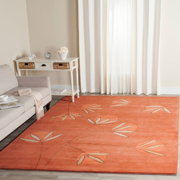 "Safavieh Handmade Soho Summer Rust New Zealand Wool Rug - 9'6"" x 13'6"""
