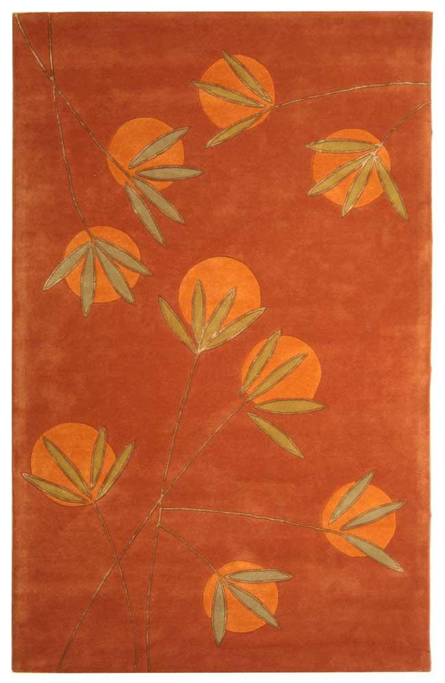 Safavieh Handmade Soho Summer Rust New Zealand Wool Rug (3'6 x 5'6)