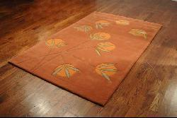 Safavieh Handmade Soho Summer Rust New Zealand Wool Rug (3'6 x 5'6) - Thumbnail 1