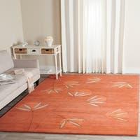 Safavieh Handmade Soho Summer Rust New Zealand Wool Rug - 7'6 x 9'6