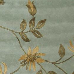 Safavieh Handmade Soho Twigs Light Blue New Zealand Wool Rug (8'3 x 11') - Thumbnail 2