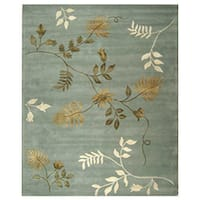 Safavieh Handmade Soho Twigs Light Blue New Zealand Wool Rug - 8'3 x 11'