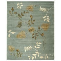 "Safavieh Handmade Soho Twigs Light Blue New Zealand Wool Rug - 8'3"" x 11'"