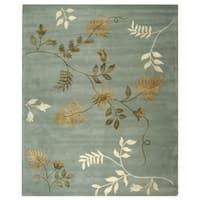 "Safavieh Handmade Soho Twigs Light Blue New Zealand Wool Rug - 7'6"" x 9'6"""