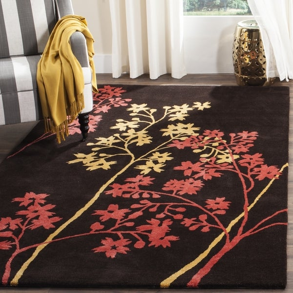 Safavieh Handmade Soho Autumn Brown New Zealand Wool Rug (7'6 x 9'6)