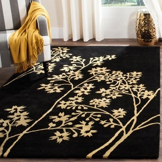 Safavieh Handmade Soho Autumn Black New Zealand Wool Rug (9'6 x 13'6)