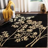 Safavieh Handmade Soho Autumn Black New Zealand Wool Rug (9'6 x 13'6) - 9'6 x 13'6