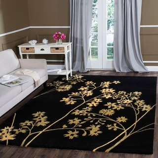 Safavieh Handmade Soho Autumn Black New Zealand Wool Rug (7'6 x 9'6)