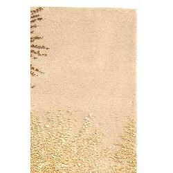 Safavieh Handmade Soho Burst Beige New Zealand Wool Runner (2'6 x 14') - Thumbnail 1