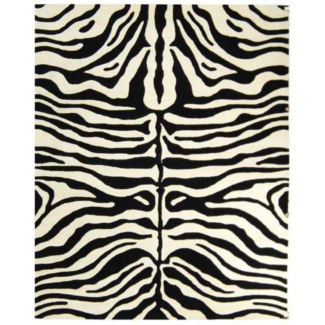 Shop Safavieh Handmade Soho Zebra Print Beige/Charcoal N
