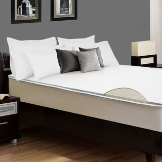 Select Luxury E.C.O. Latex 2-inch Reversible Mattress Topper with Cover