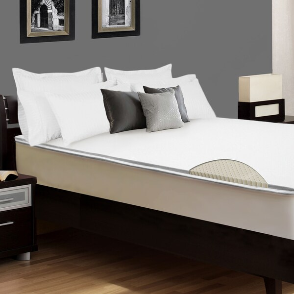 Select Luxury E.C.O. Latex 2-inch Flippable Mattress Topper with Cover
