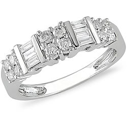 Miadora 14k White Gold 1/2ct TDW Diamond Ring (J-K, I2)