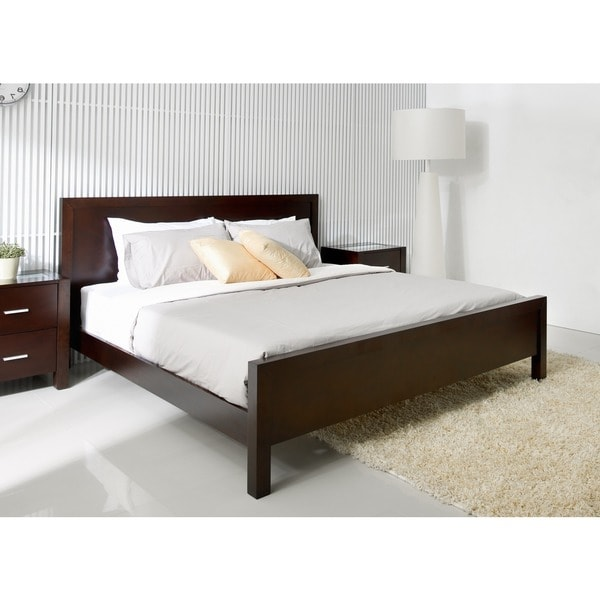 ABBYSON LIVING Hamptons King-size Platform Bed - 11994317 - Overstock ...