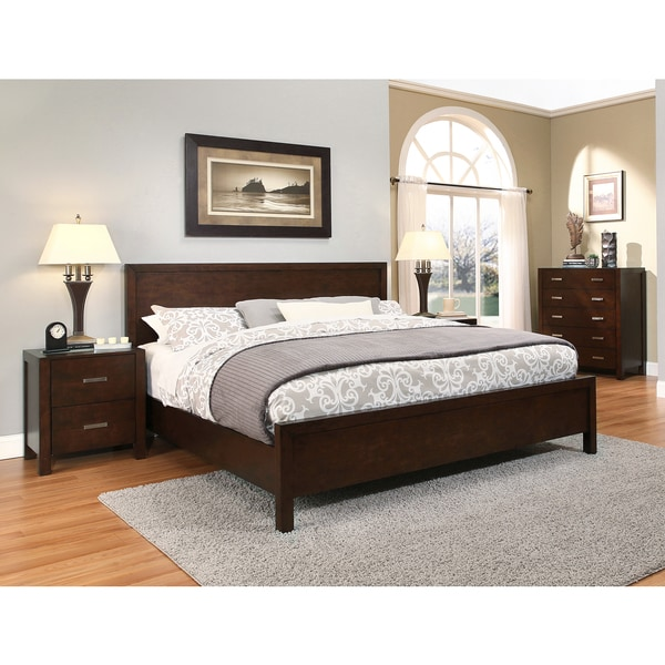abbyson hamptons 4 piece king size platform bedroom set