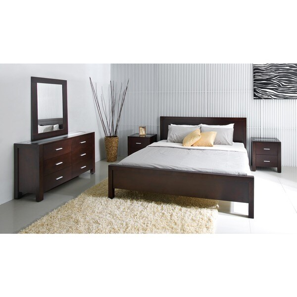 abbyson hamptons 5 piece king size platform bedroom set