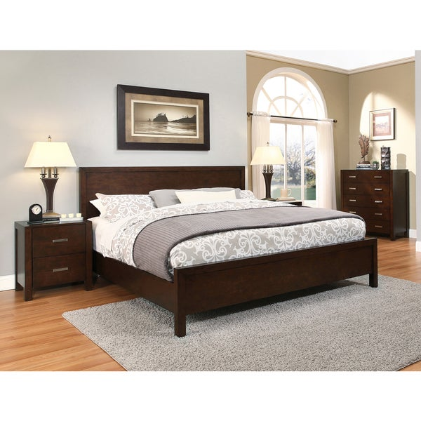 abbyson hamptons 4 piece queen size platform bedroom set