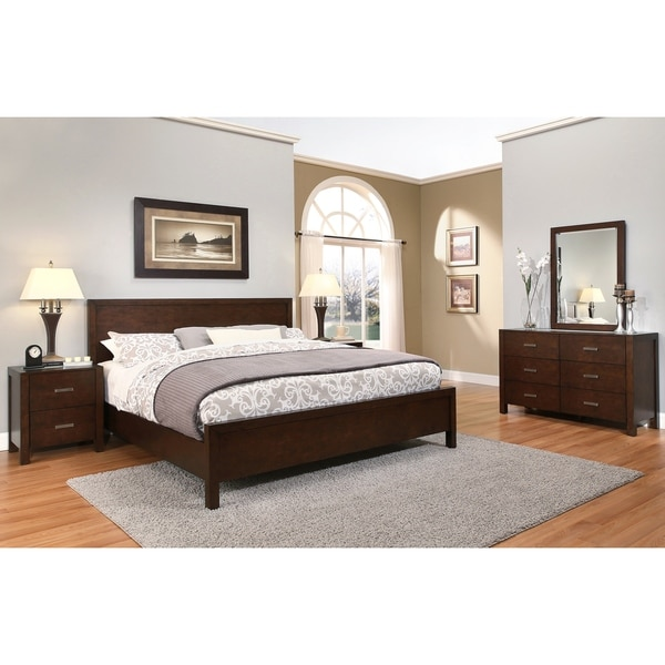 Abbyson Hamptons 5 Piece Queen Size Platform Bedroom Set Free