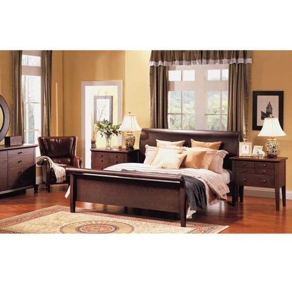 Abbyson Living Novara 5-piece Queen Sleigh Bedroom Set