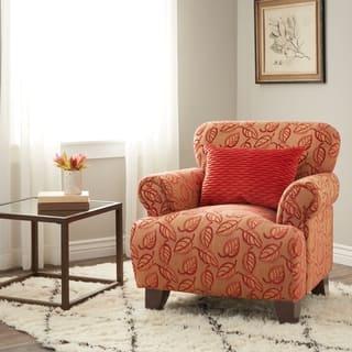 orange living room chair. Sausalito Nutty Cranberry Chair Chenille Living Room Chairs For Less  Overstock com