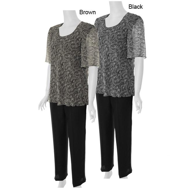 Adi Designs Plus Size 2-piece Pant Suit