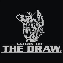 Upstream Image 'Luck of the Draw' Silver Window Decal - Thumbnail 1