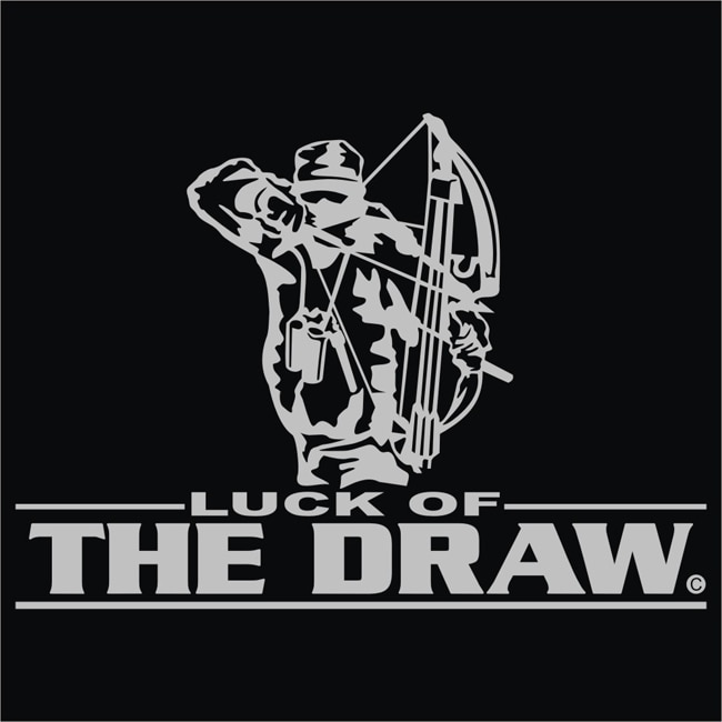 Upstream Image 'Luck of the Draw' Silver Window Decal