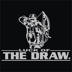 Upstream Image 'Luck of the Draw' Silver Window Decal - Thumbnail 0