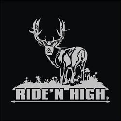 Upstream Images Ridin High Silver Window Decal - Thumbnail 0