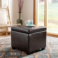 Safavieh Jonathan Storage Flip-top Brown Ottoman