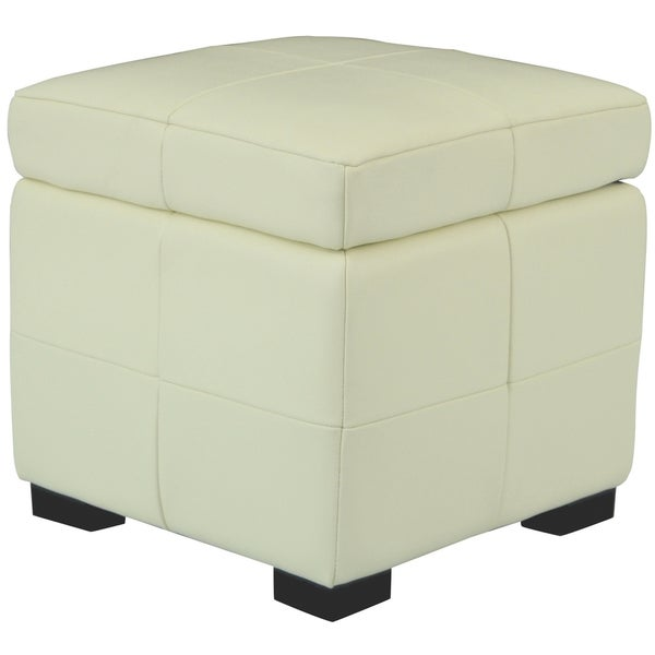 Safavieh Lorenzo Small Flip-top Off-white Storage Ottoman